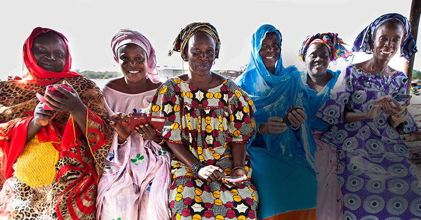 Fish processing in Senegal is chiefly performed by women. Through Wireless Reach's fisheries program, they can access market information and mobile money services.